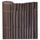 ROLLO 1X5mts CAÑIZO PVC SIMPLE CARA MARRON